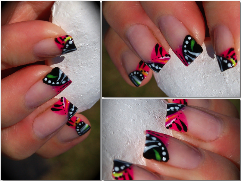 Tribal Funky French Nail Art Alpha Amore